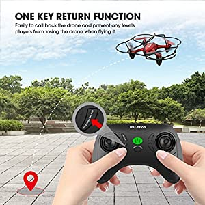 TEC.BEAN GD90-A Mini Drone for Beginners Hovering Quadcopter with Altitude Hold Mode One Key Take off Landing Return Home Entry Level for Kids by GD