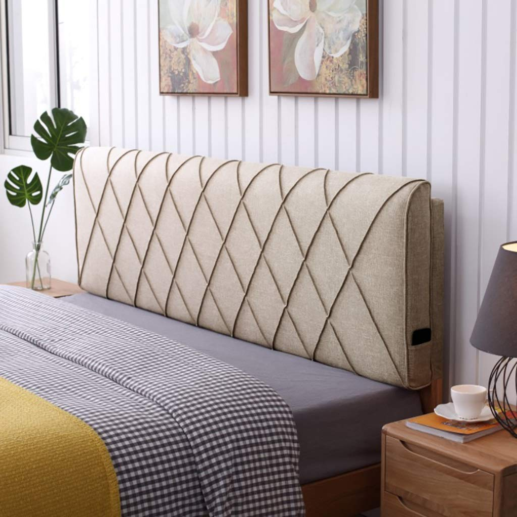 C 1005810CM Reading Pillow Back Support Pillow Burlap headboard Solid Wood Bed Cover Tatami Pillow Large backrest, Double Sofa Cushion Bedrest Backrest, Bolster Cushion, Bed Cushion Removable Washable