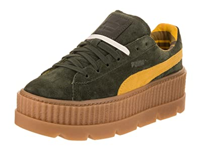 save off d8510 b7a12 PUMA Womens Fenty by Rihanna Tan Cleated Creeper 36626802 Sneakers Shoes