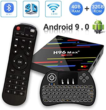 Android 8.1 TV Box, H96 MAX + 4 GB RAM + 32 GB ROM Smart TV