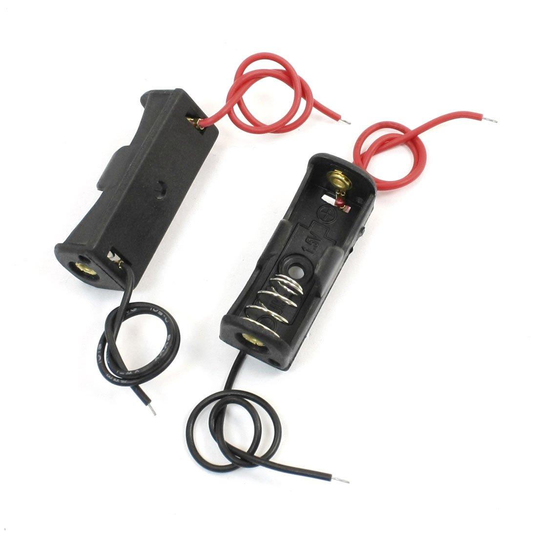 SODIAL 5 Stk Schwarze Halter-Kaesten fuer 23A//A23 Batterie R
