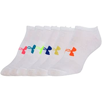 Under Armour Solid 6 PKS NO Show Calcetines, Mujer, Blanco (100), M: Amazon.es: Deportes y aire libre