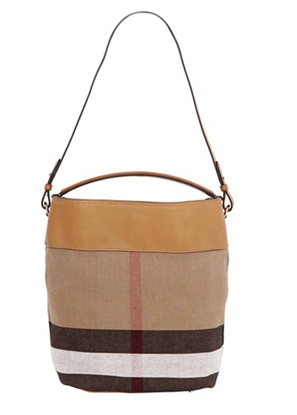46ac0a7c8 Amazon.com: Burberry Women's Medium Ashby in Canvas check and Leather Brown:  Clothing
