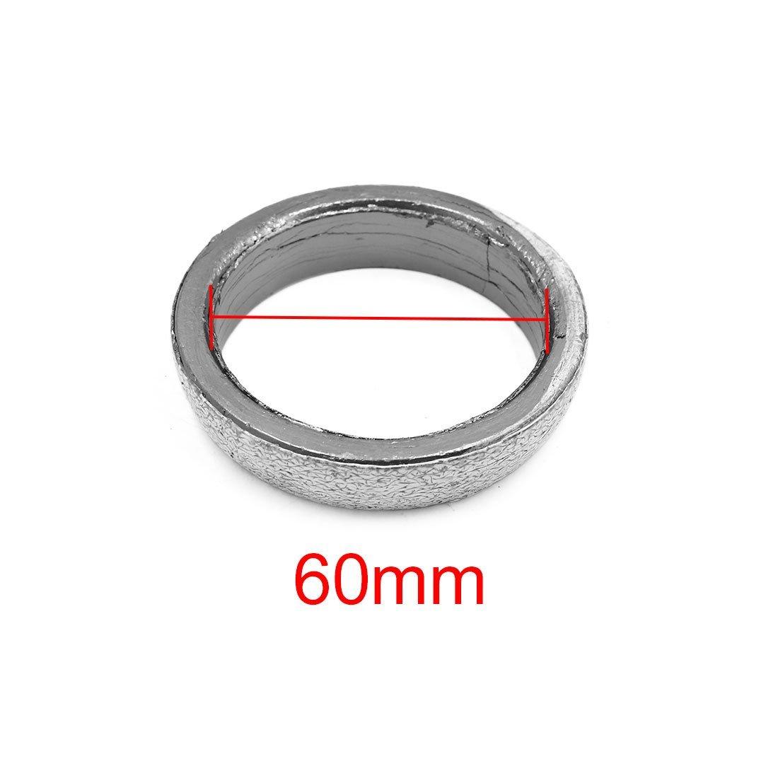 2PCS 60mm Interne Dia Auto /échappement essai Tuyau collecteur Tuyeau Donut Joint