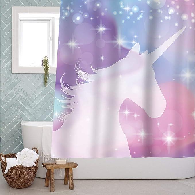 Cortina de baño de Unicornio