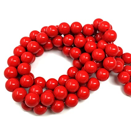 Amazon Com Chengmu 8mm Cinnabar Beads Natural Cinnabar Powder And