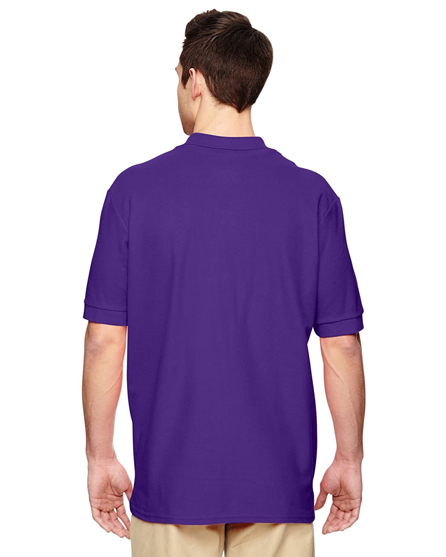 G828 2XL-12PK Gildan Mens Premium Cotton Double Piqu/é Sport Shirt -Purple