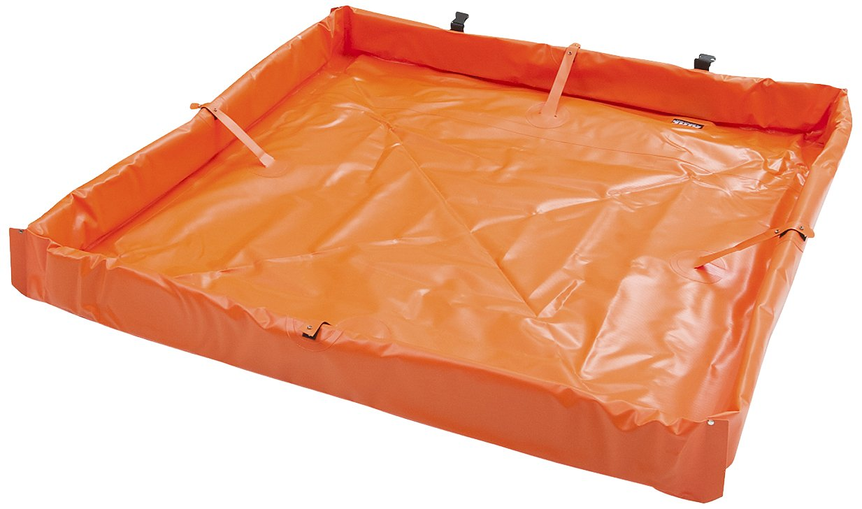 AIRE INDUSTRIAL 918-020204O Duck Pond Portable Containment, 10 Gallon Spill Capacity, 24'' Length x 24'' Width x 4'' Height, Orange