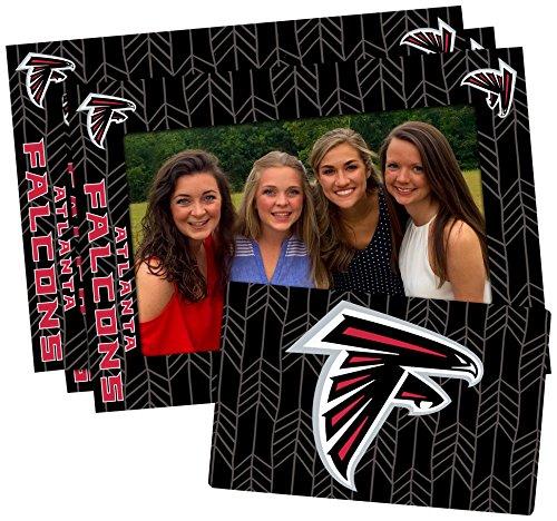 Atlanta Falcons Picture Frame - NFL Atlanta Falcons Magnetic Frame & Bonus Magnet, 3 Pack, Blue, 4-inch by 6-inch
