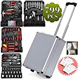 Yaheetech Fabulous 599pcs Mechanic Kit Box Case Toolbox Trolley