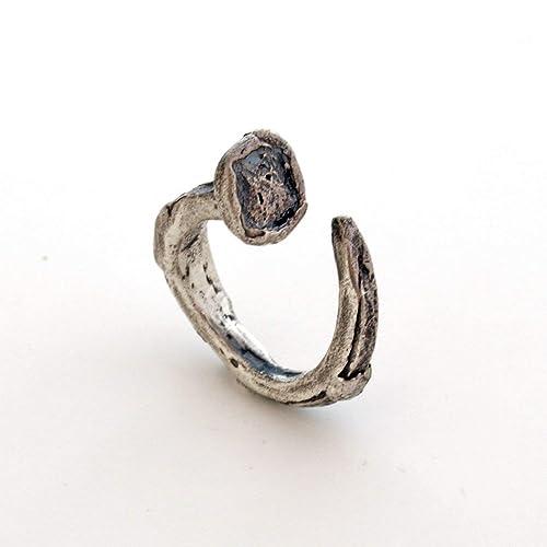 Anello snake-in argento925-regolabile-fatto a mano Pezzo unico.