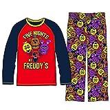 Five Nights at Freddys Boys Girls 5 Nights Pajama Set Freddy Cast Shirt and Pants (Large - 8)