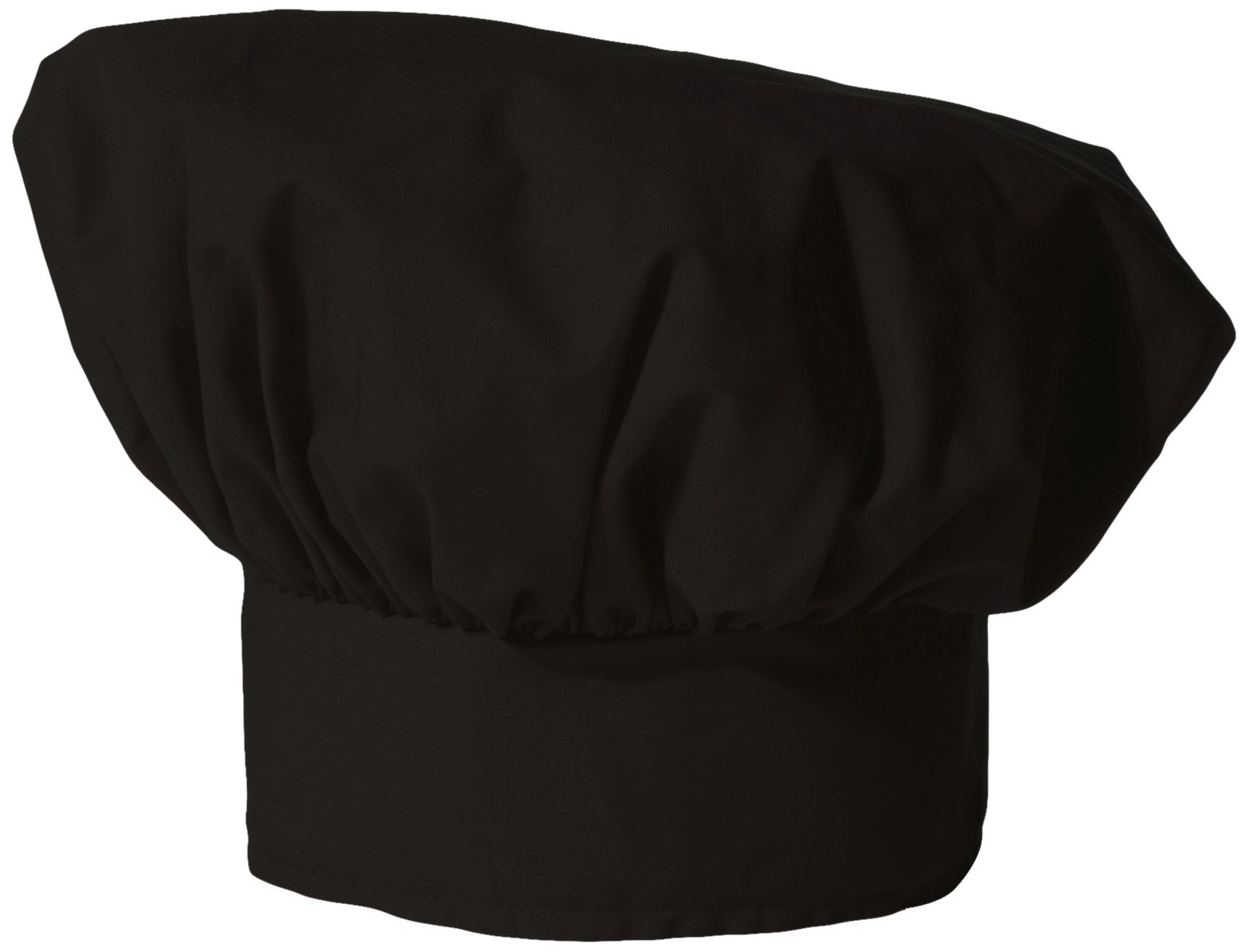 Uncommon Threads Unisex Poplin Chef Hat, Black, One Size by Uncommon Threads