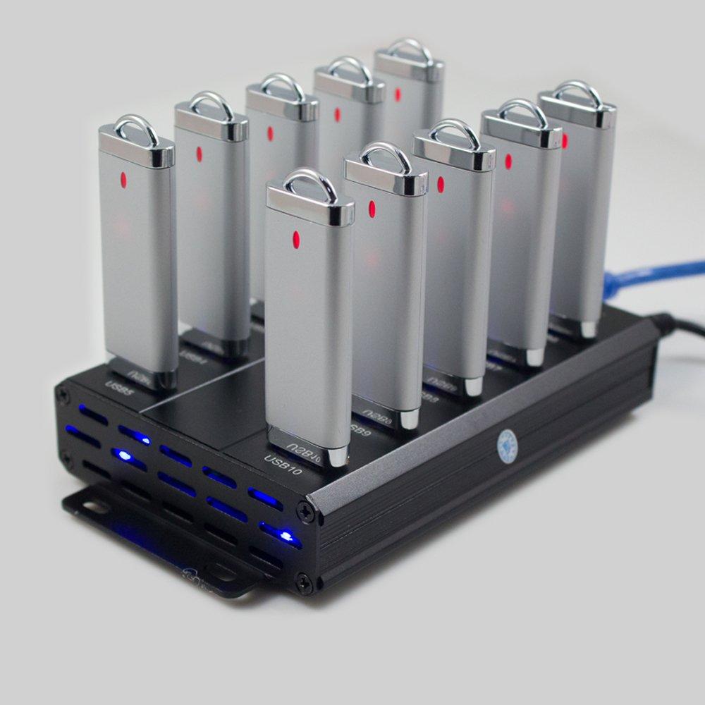USB HUB 10 port,USB high Speed Data sync hub,usb hub Charger Station,60W high power industrial hub,Support BC1.2 USB Fast Charging(include 60W 12V 5A adapter)