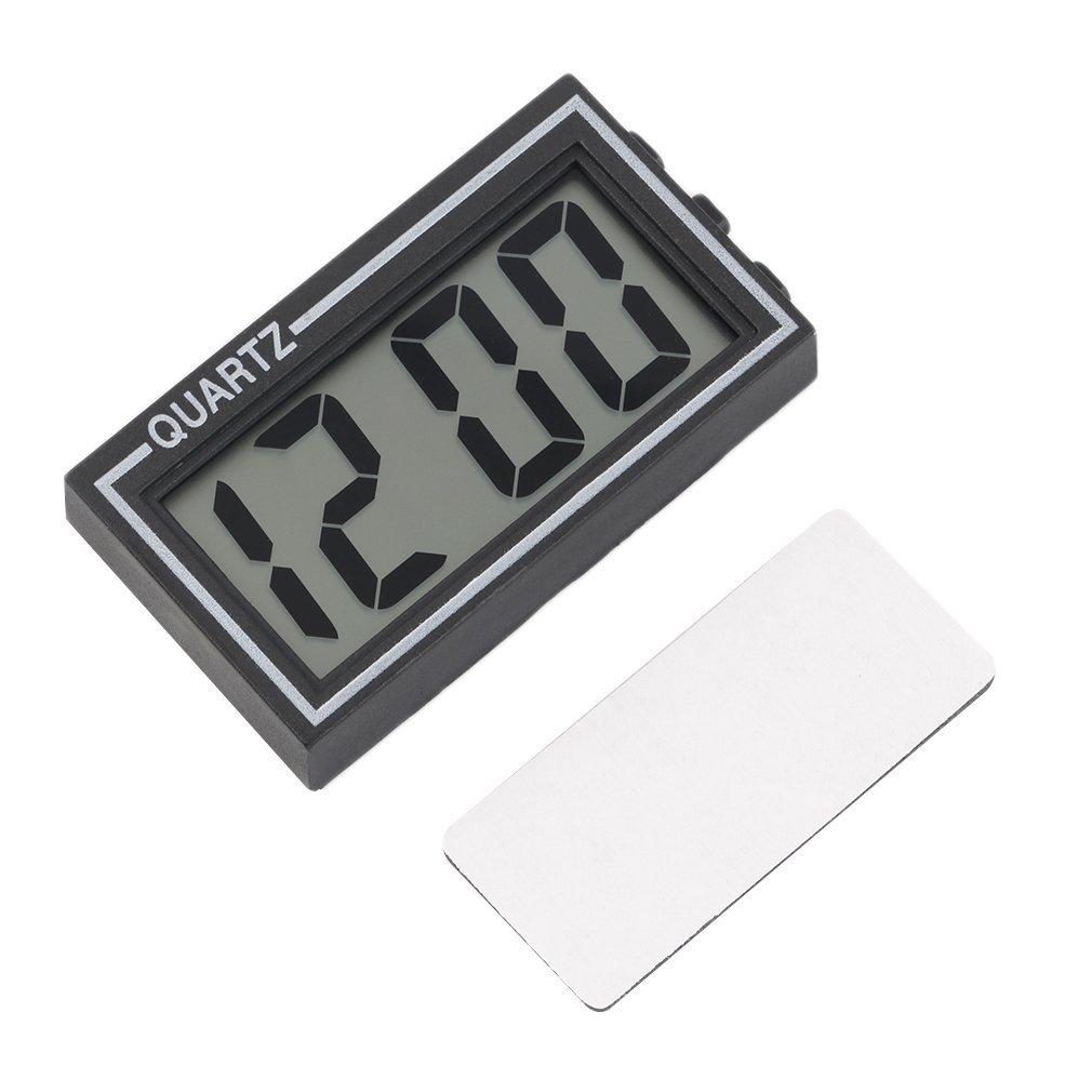 Winbang Nero Digital LCD da tavolo cruscotto escursioni Data Ora calendario Piccolo Orologio