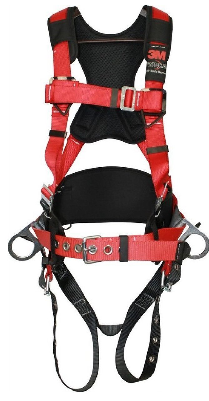 3M Protecta Pro Fall Arrest Kit with Back/Side D-Rings, Shoulder/Hip/Leg Padding, Pass Thru Buckle Chest and Tongue Buckle Legs