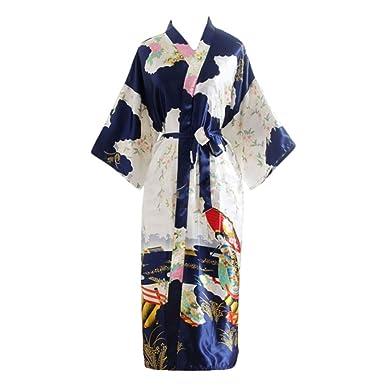 YOLIA Mujeres Longitud de la Rodilla, Camisones, Batas Impreso Kimono Ropa de Dormir Vestido de los Vestidos de Camisones: Amazon.es: Ropa y accesorios