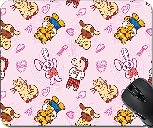 MSD Natural Rubber Mousepad Mouse Pads/Mat design: 8486748 seamless cute animal pattern -