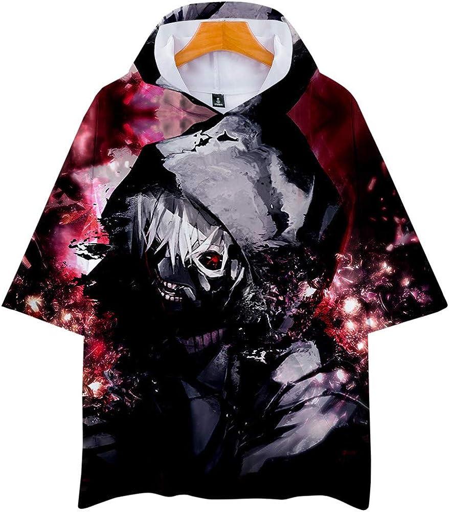 Tokyo Ghoul Camisa con Capucha para Niño Niña Casual 3D Funky Manga Corta Summer Camiseta Tops Blusa (1, 100): Amazon.es: Ropa y accesorios