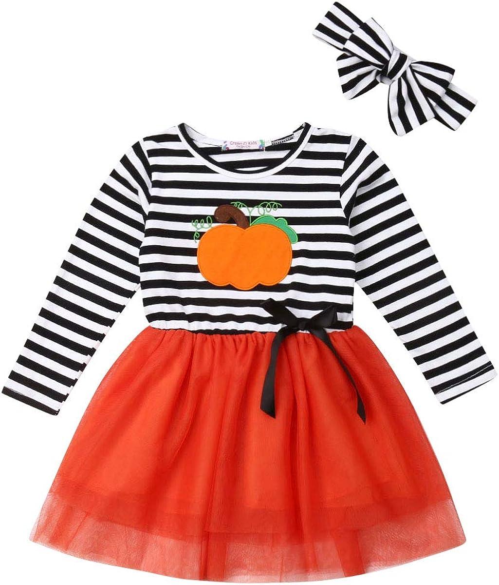Vestido para Niña Bebé Recién Nacido Temático Vestido con Mangas Largas de Tul Estampado Dibujo Animado 1-6 Años para Fiesta