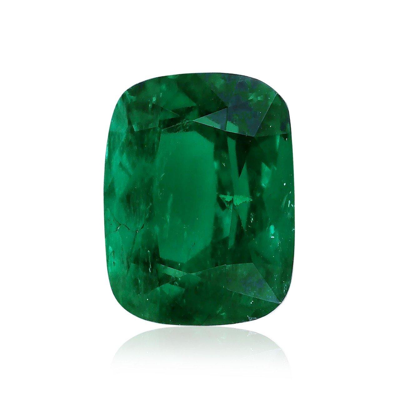 5.74 carat verde esmeralda sueltos gemas cojín corte gubelin ...
