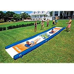 Wow Watersports 18-2200 Mega Slide, Backyard Waterslide, High Side Walls, 25 Feet x 6 Feet, Includes Hand Pump