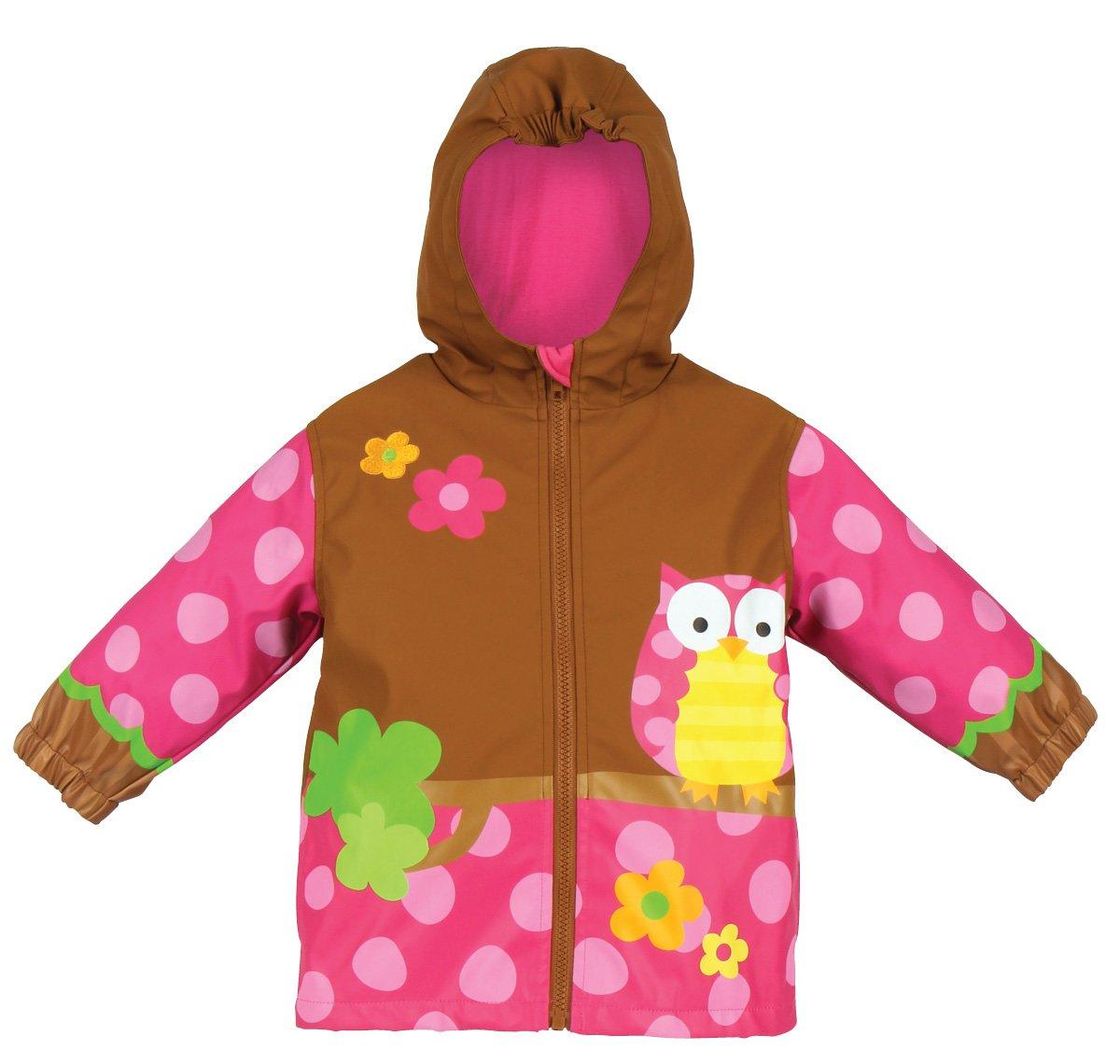 Stephen Joseph Little Girls'  Peace Rain Coat, Owl, 2T by Stephen Joseph
