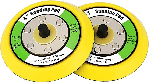 10,0000 RPM Aispor 2Pcs Backing Pad 5-Inch Dual-Action Hook /& Loop Backing Plate 5//16-24 Thread