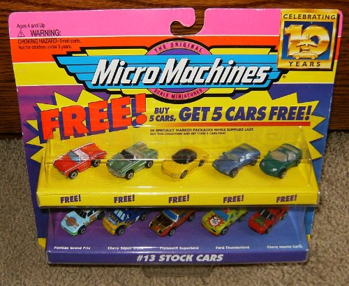 Micro Machines Toy Cars - Micro Machines Stock Cars #13 Collection w/5 Bonus Cars