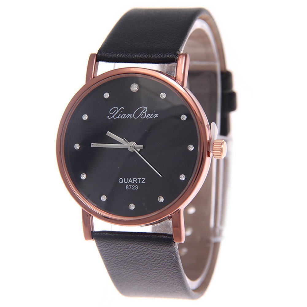 Zaidern Womens Leather Watches Unique Analog Quartz Wristwatches Fashion Clearance Lady Watches Female Watches on Sale Casual Wrist Watches for Women Round Dial Case Comfortable PU Leather Watch
