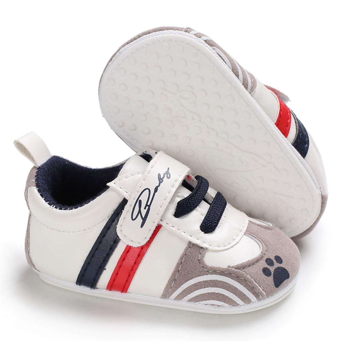 Sakuracan Baby Boys Girls Canvas Shoes Soft Anti-Slip Sole Sneakers Newborn Infant First Walkers Shoes