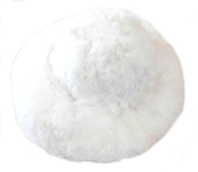 Alpakaandmore Womens White Baby Alpaca Fur Mongolian Hat Satin Lined  Russian Hat (Small (21 7be73782c4e