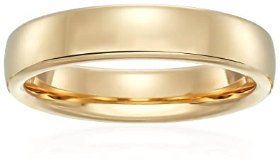 Modern comfort fit 14k gold wedding band 45mmamazon modern comfort fit 14k white gold band 45mm size 75 junglespirit Image collections