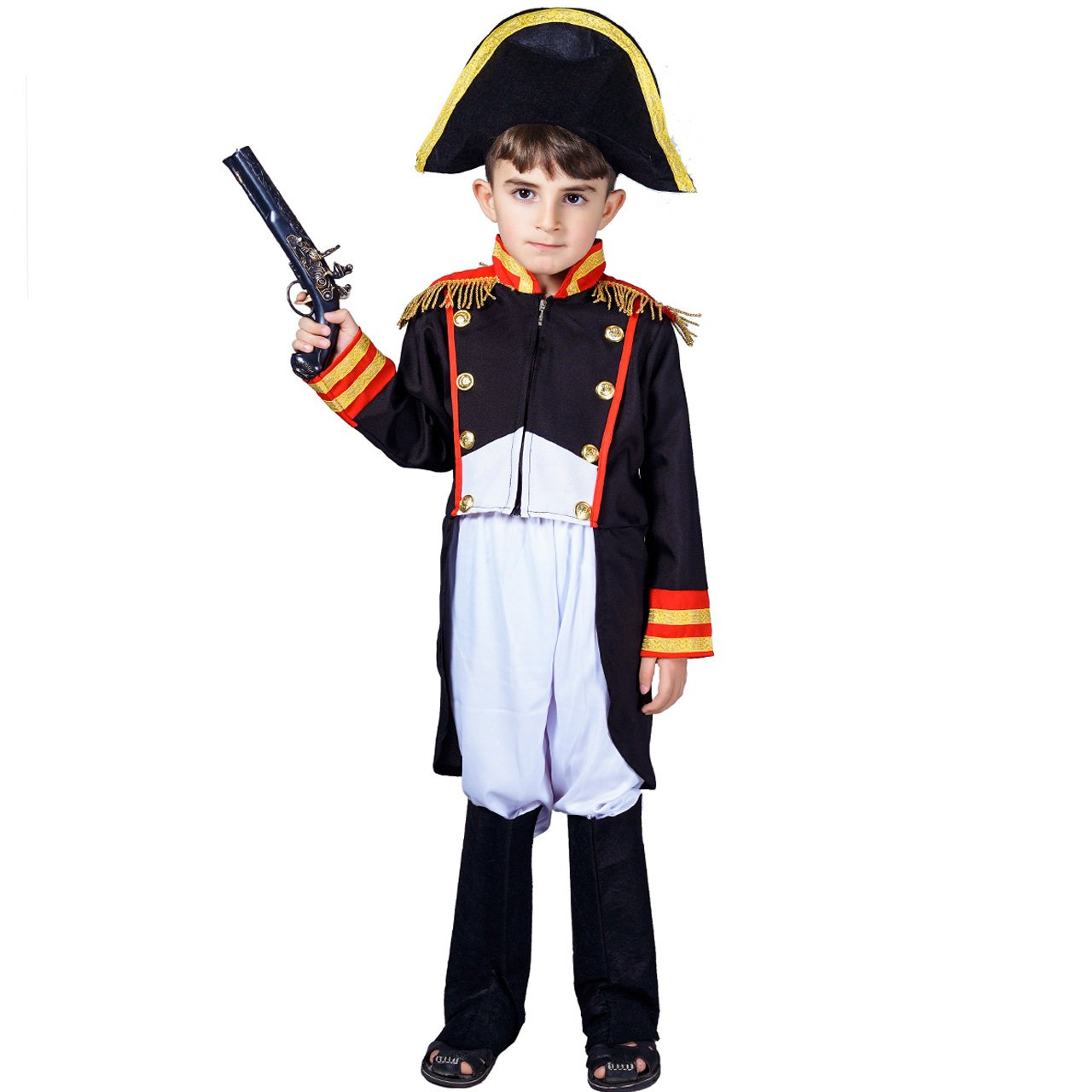 flatwhite Boy's Napoleon Costume (10-12Years)