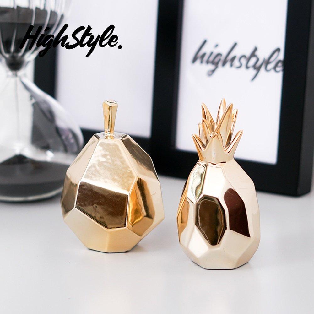LXYFMS Scandinavian Van Yeer Metallic Cuff System Facade Geometric Fruit Home Accessories Ceramic Jewelry 1 Pair Crafts