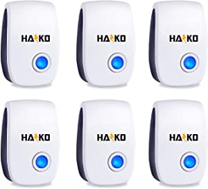 HAZKO Ultrasonic Pest Repellent - Electronic Pest Control - Best Indoor Ultrasonic Pest Repeller - Mice, Bugs, Ants, Insects and Cockroaches Repellent