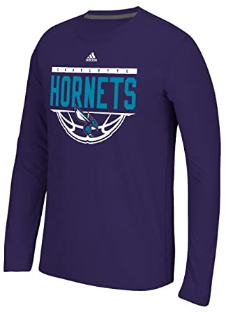 Adidas Charlotte Hornets NBA Balled out Climalite Performance L/S Camiseta, Extra-