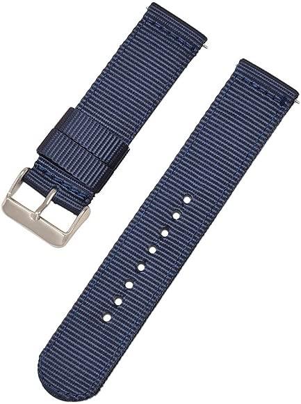 azul de la correa de la correa de 16 mm 18 mm 20 mm 22 mm 24 mm correa de reloj de alta calidad de nylon real de la OTAN con hebilla de acero ...