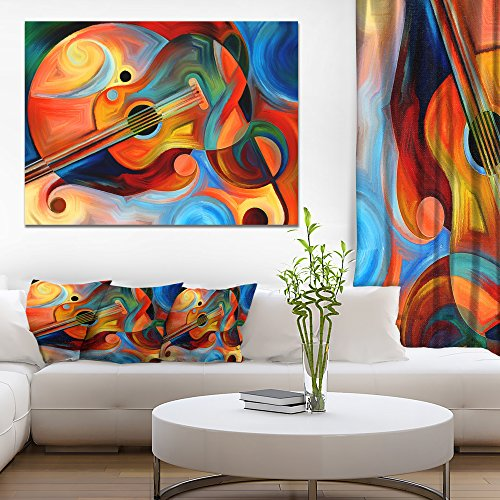 Music and Rhythm Abstract Canvas Art Print by Design Art
