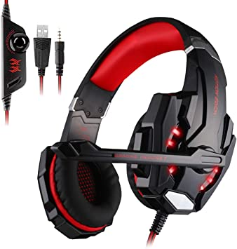 Auriculares Gaming Cascos Gaming Juego Headset Headphone con ...