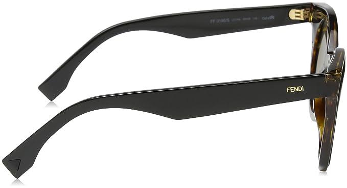 Fendi FF0196S-0LC1 Havana Black -48mm at Amazon Mens ...