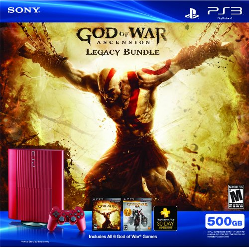 PS3 500 GB God of War Ascension Legacy Bundle (Playstation 3 God Of War Ascension Bundle)