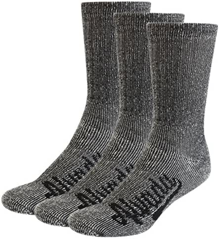AIvada 80% Merino Wool Hiking Socks Thermal Warm Crew Winter Sock for Men & Women 3 Pairs