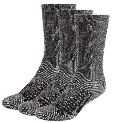 Alvada 80% Merino Wool Hiking Socks Thermal Warm Crew Winter Sock for Men & Women 3 Pairs