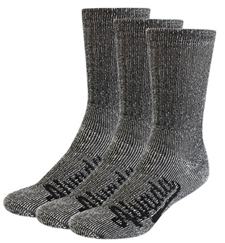 (AIvada 80% Merino Wool Hiking Socks Thermal Warm Crew Winter Sock For Men Women 3 Pairs ML)
