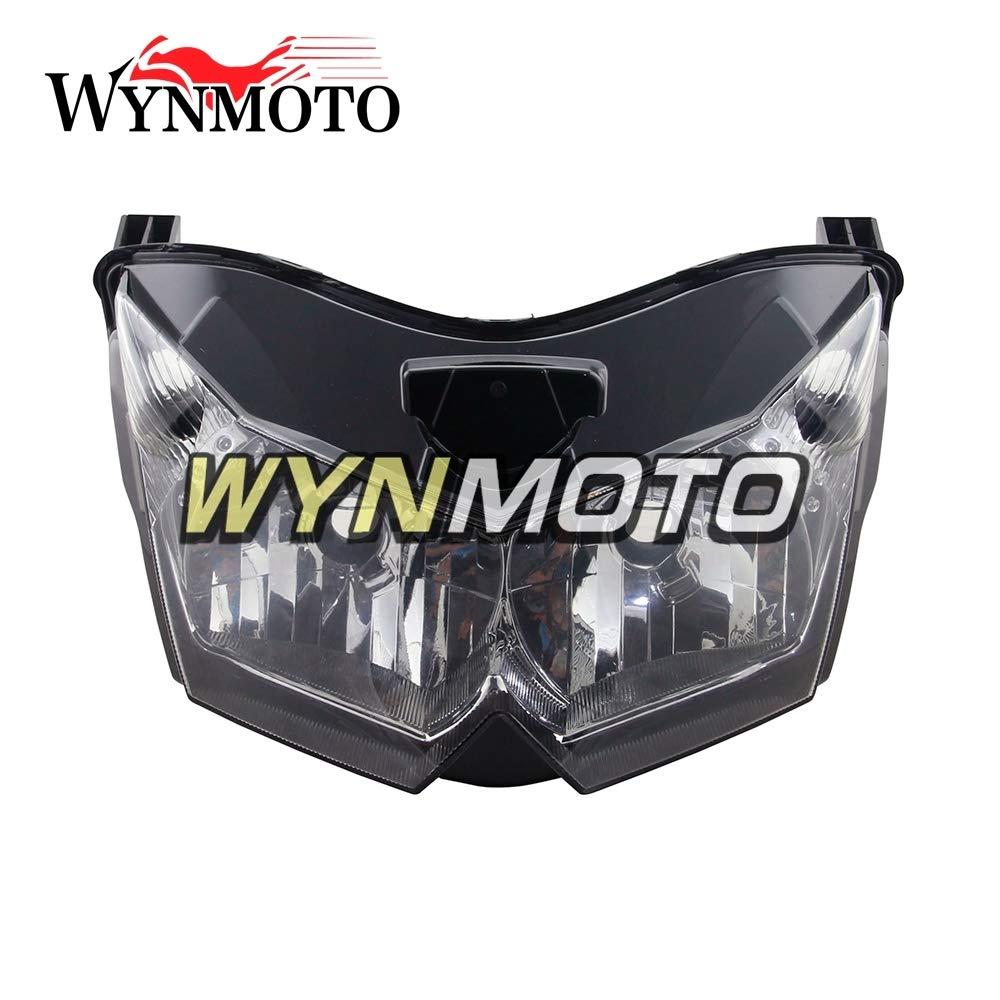 WYNMOTO 交換ヘッドライトヘッドランプ ABS プラスチック Sportbike 部品用川崎 Z1000 2007 2008 Z1000 07 08 オートバイの注入フェアリングヘッドライトヘッドランプフロントヘッドライトハウジングクリア   B07QSK13YB