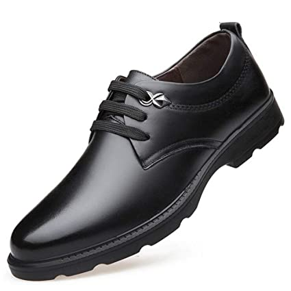 fd355602fc2d Amazon.com: Hy Mens Casual Shoes, Leather Fall Winter Lace-up Formal ...