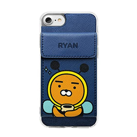 promo code 0be6f 4b7b3 iPhone 8 Plus Kakao Friends Cell Phone Case Pocket Wallet Magnet Credit  Card Holder Cover(Ryan C)