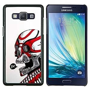"""Be-Star Único Patrón Plástico Duro Fundas Cover Cubre Hard Case Cover Para Samsung Galaxy A5 / SM-A500 ( Cráneo Yo Rojo Blanco tribal del motorista de la Muerte"""" )"""