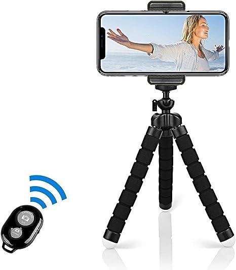 Portable Tr/épied Appareil Photo Trepied Camera iPhone avec Support et T/él/écommande Bluetooth pour Smartphone et Appareil Photo